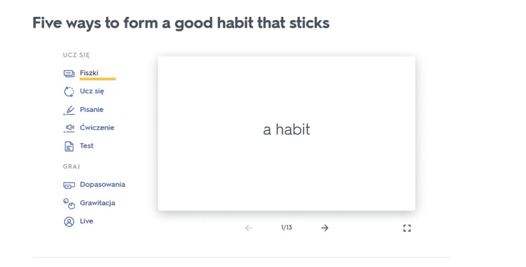 Quizlet – najlepsza aplikacja do nauki słówek - fiszki ze slowkami