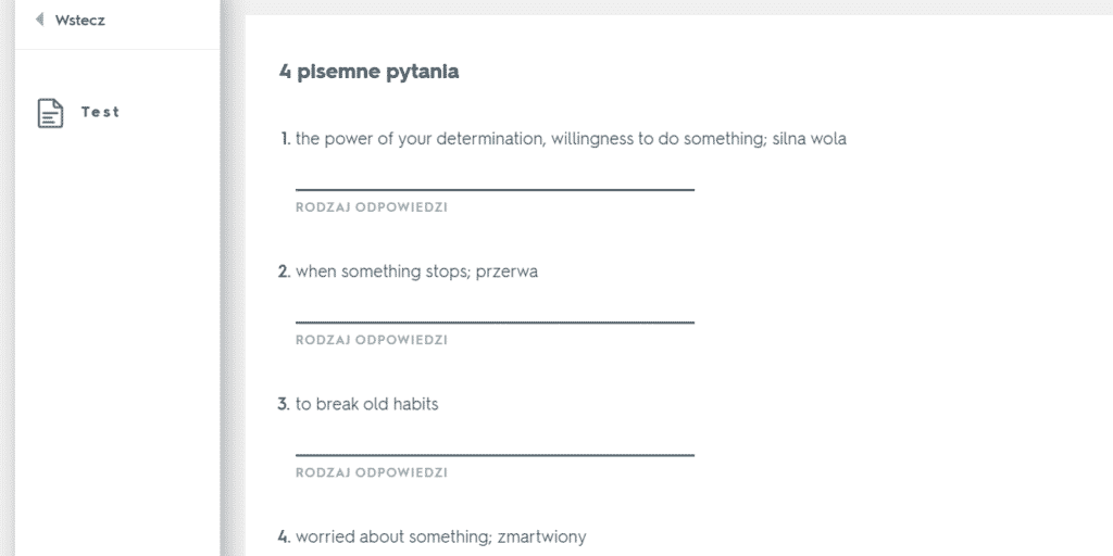 Quizlet – najlepsza aplikacja do nauki słówek - test